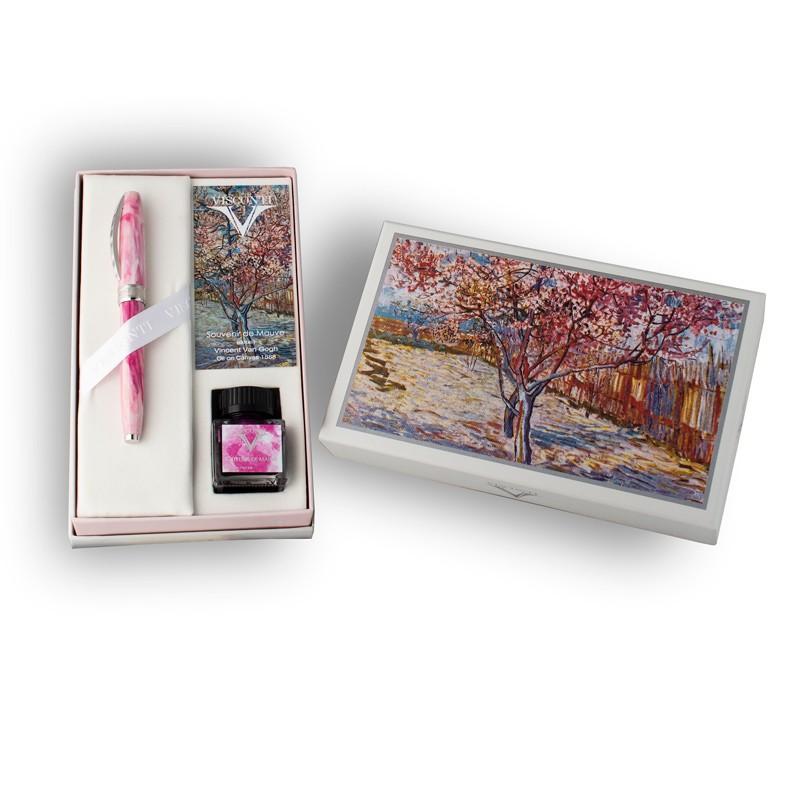Penna stilografica Visconti Van Gogh Souvenire De Mauve Lema San Miniato confezione regalo con inchiostro