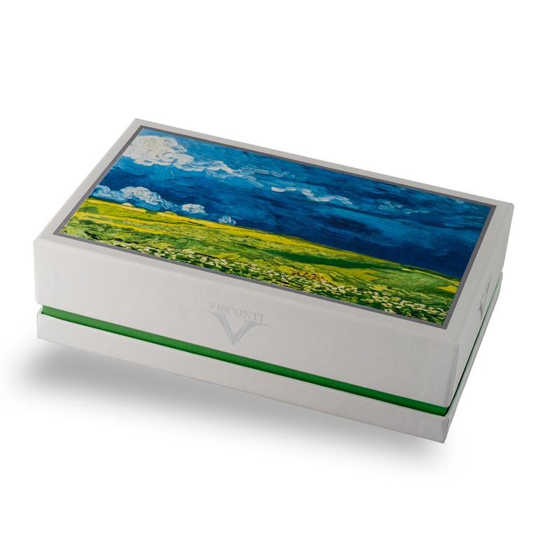 Penna stilografica Visconti Van Gogh Wheatfield under Thunderclouds Lema San Miniato confezione regalo