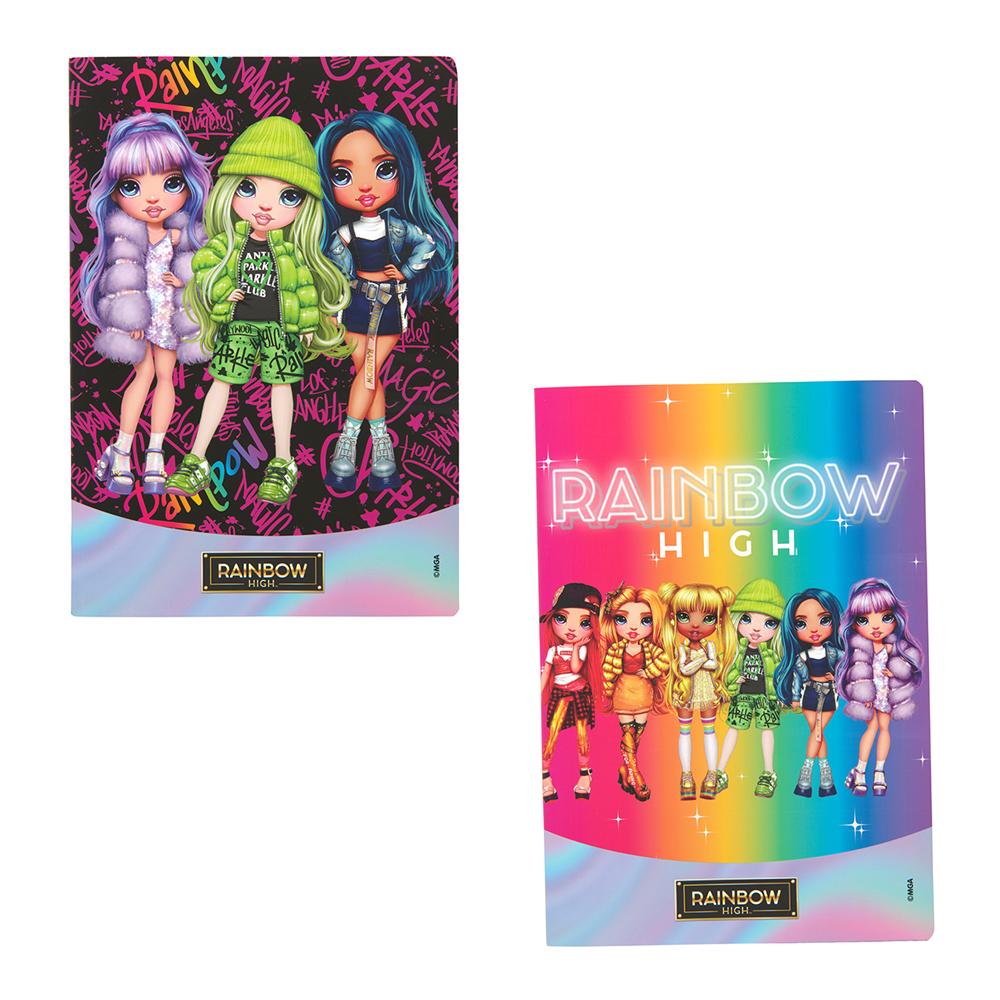 3 Maxi Quaderni +30% pagine Rainbow High quadretti 5MM | Lema Scuola Ufficio