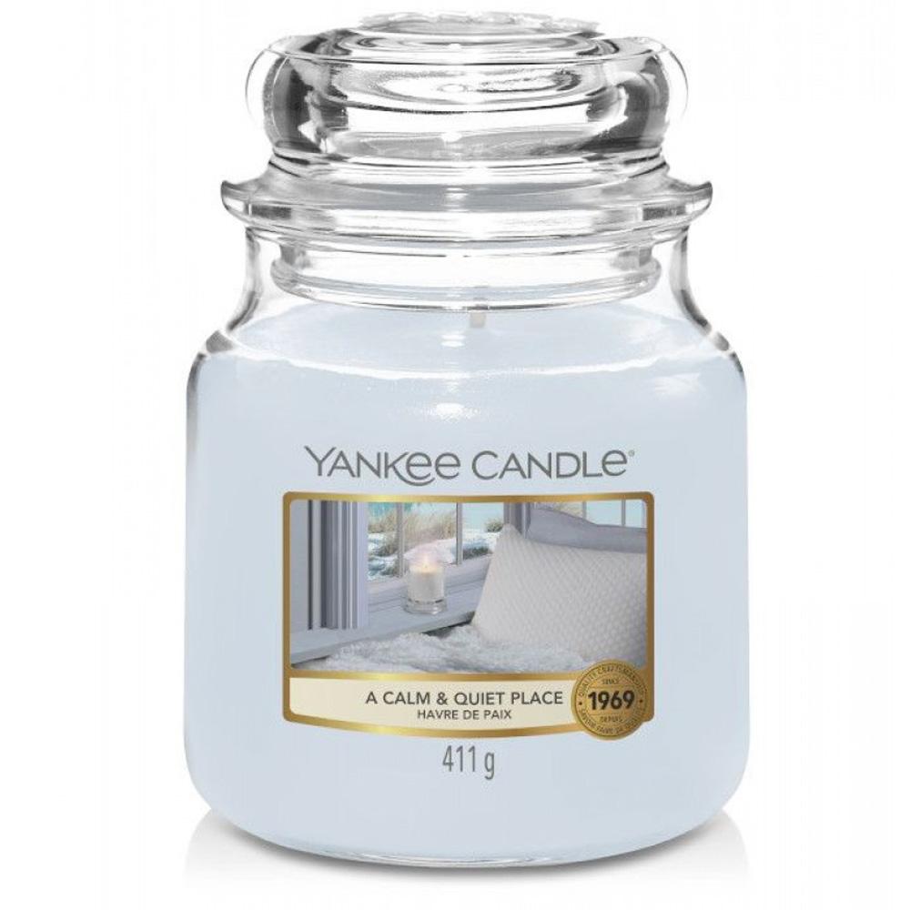 Candela Profumata Yankee Candle A Calm & Quiet Place giara media   Lema