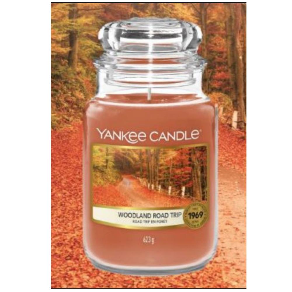 Candela Profumata Yankee Candle Woodland Road Trip Giara Grande   Lema