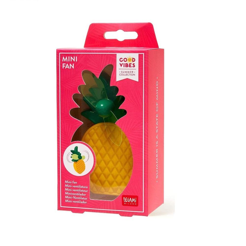 Legami Mini Ventilatore Portatile Ananas | Lema Gadget Regalo