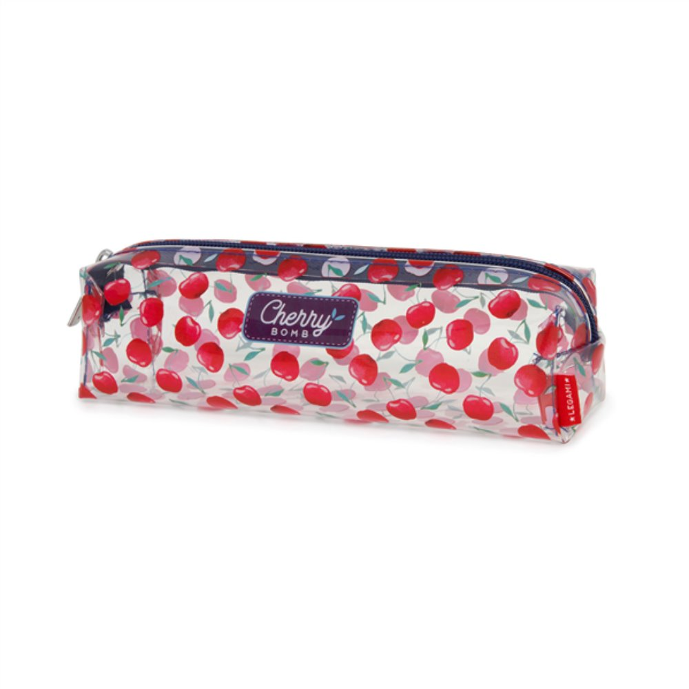 Legami Astuccio Trasparente Pencil Bag Cherry Bomb | Lema Gadget Regali