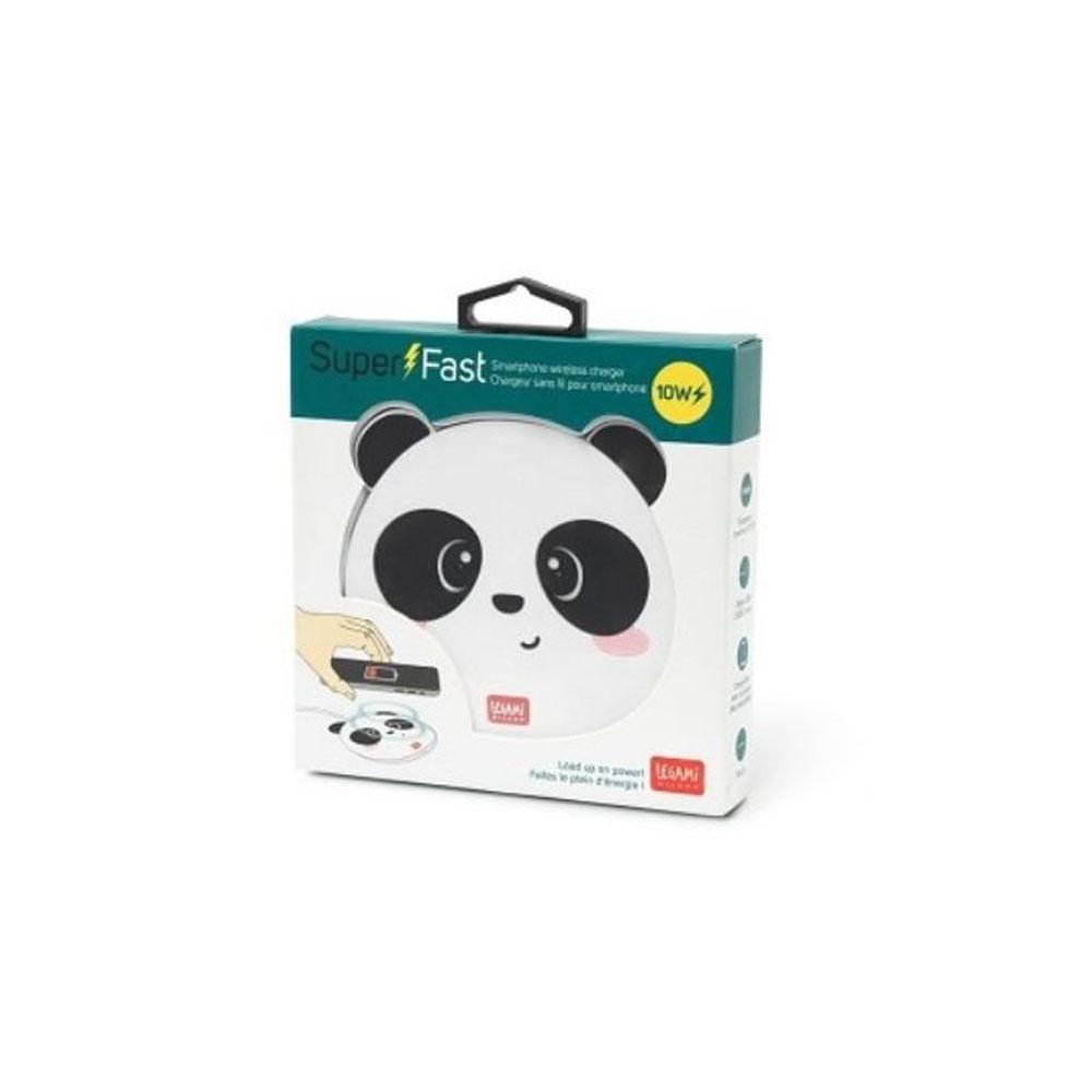 Legami Caricabatterie Wireless per Smartphone Panda | Lema Regali