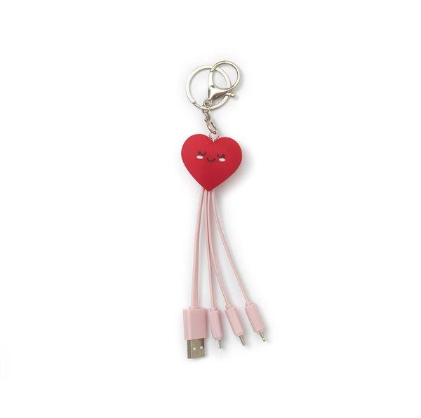 Legami Cavo di Ricarica Multiplo Heart | Lema Regali Gadget