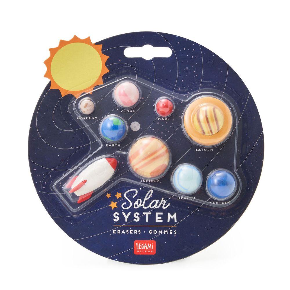Legami Set di 9 Gomme Sistema Solare   Lema Gadget Regalo