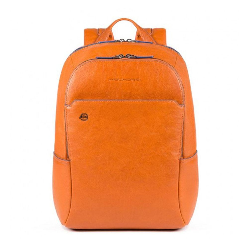 """Zaino Piquadro Porta PC 14"""" Blue Square Special Arancione CA3214B2S/AR   Lema Borse"""