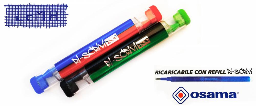 penna osama bicolore cancellabile e ricaricabile lemanet