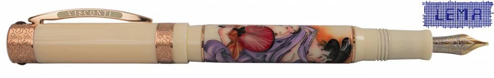 penna visconti erotic pen shunga dipinta a mano made in italy lema san miniato lemanet