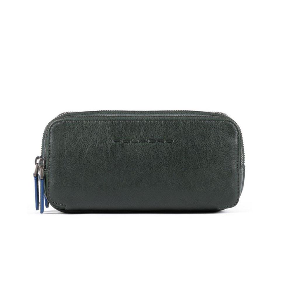 Pochette Piquadro Blue Square Verde AC2141B2S/VE | Lema Borse