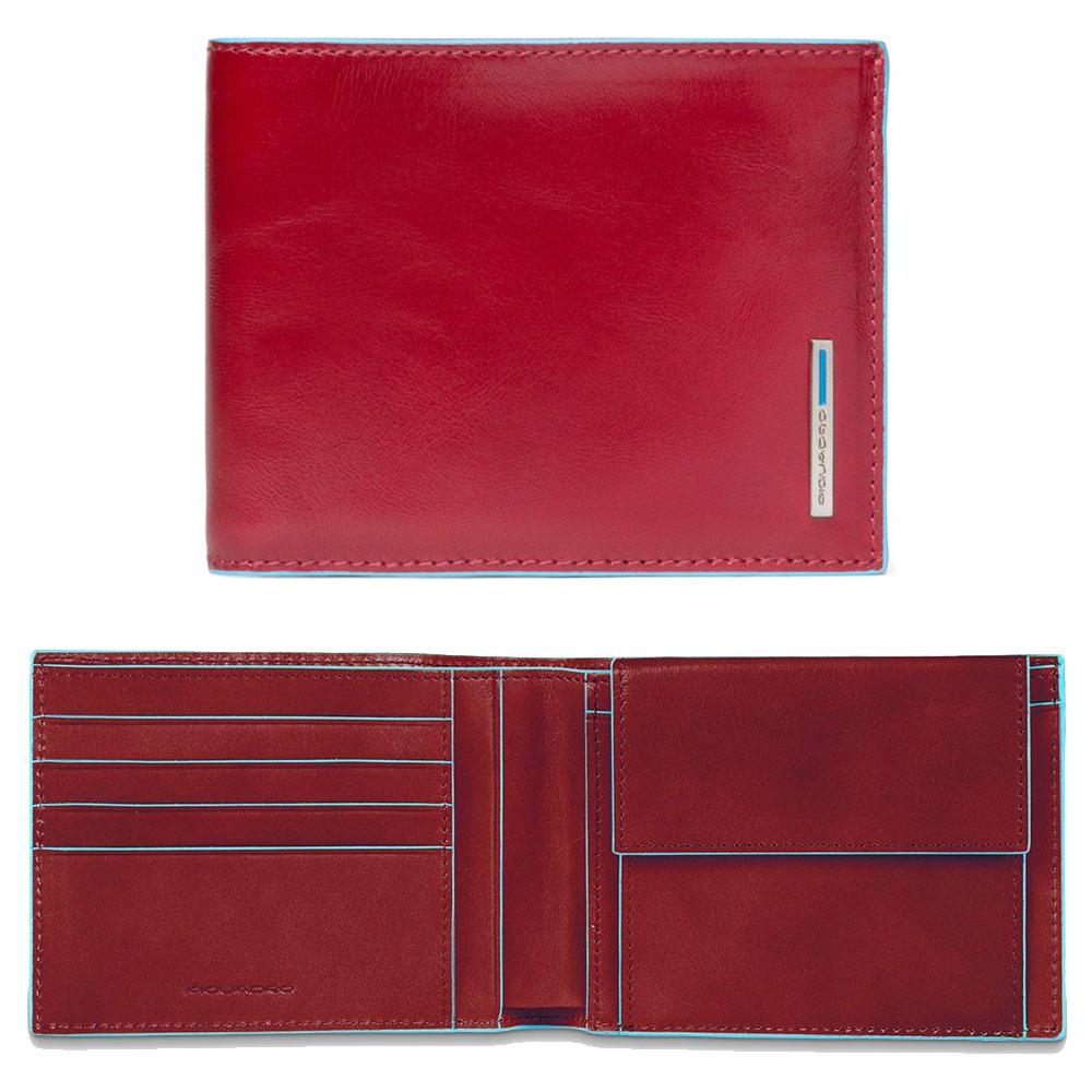 Portafoglio Uomo Piquadro Blue Square Rosso PU257B2R/R | Lema Regalo