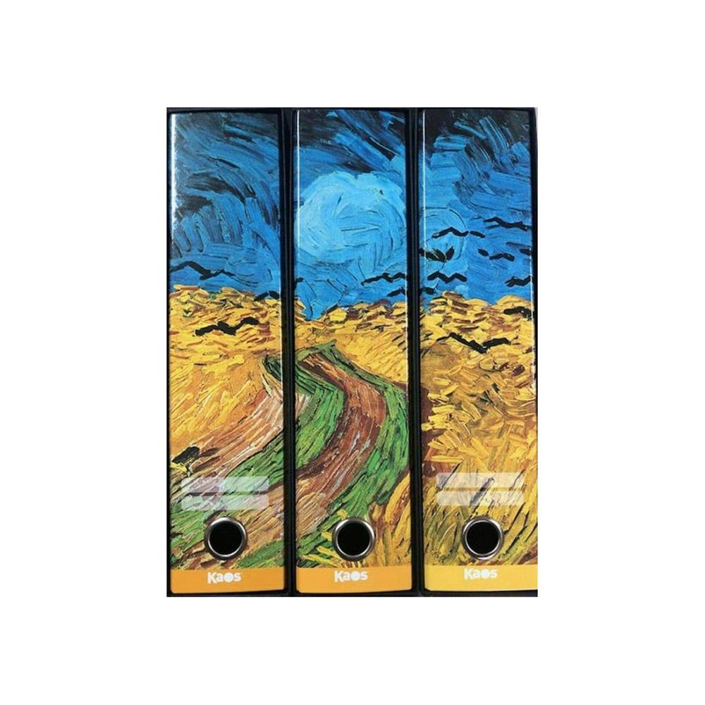 Set 3 Raccoglitori Kaos D8 Campo di Grano Vincent Van Gogh | Lema Ufficio