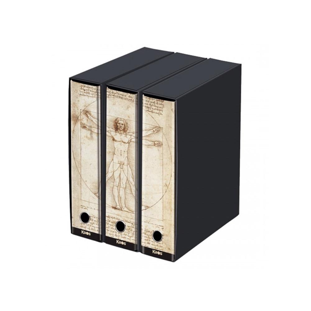 Set 3 Raccoglitori Kaos D8 Uomo Vitruviano L. da Vinci | Lema Scuola Ufficio