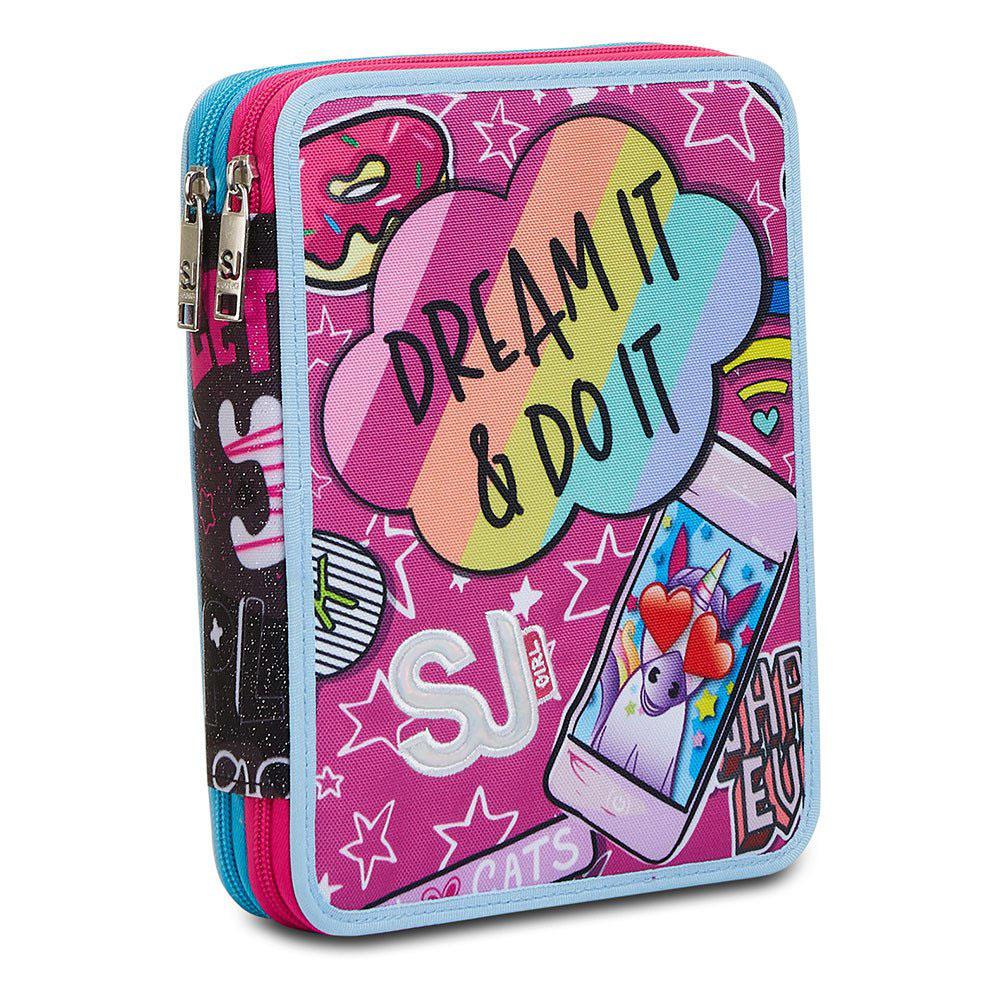 Astuccio Seven Maxi 2 Zip Sj Gang Dream & Go Girl 3C2012116 | Lema Scuola