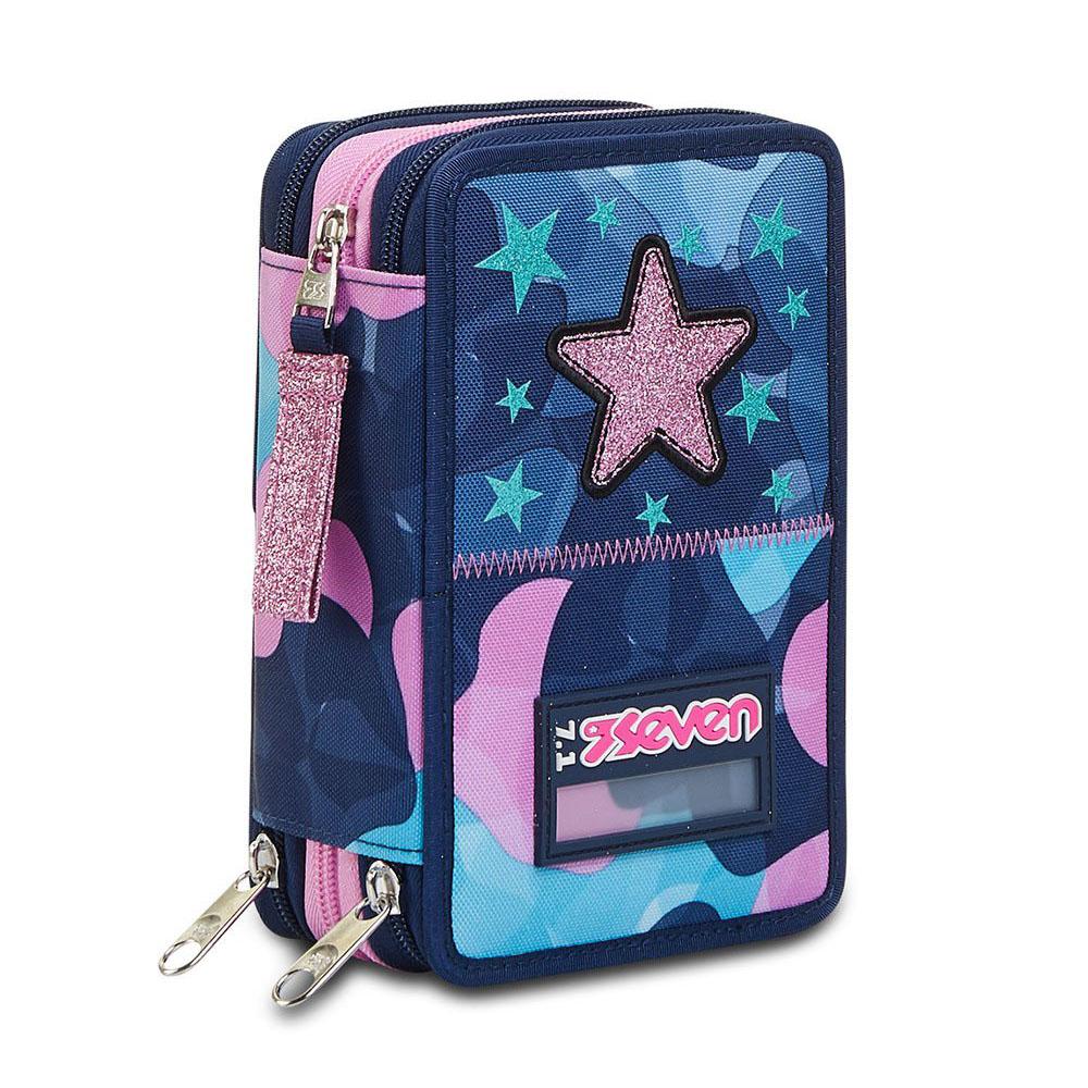 Astuccio Seven 3 Zip Charming Girl 301012113   Lema Scuola Ufficio