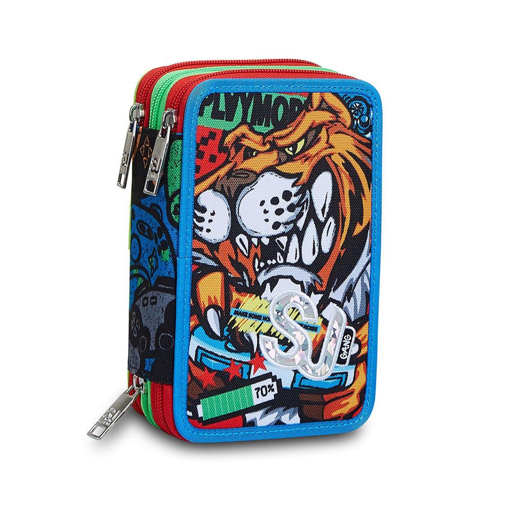 Astuccio Seven 3 Zip Sj Gang Boy Animali Fantasy 3C2012149   Lema Scuola