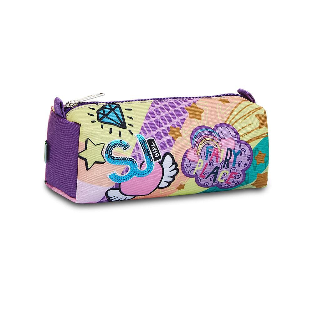Astuccio Seven Portapenne Bauletto Sj Gang Multicolor Girl 3C2022114 | Lema Scuola