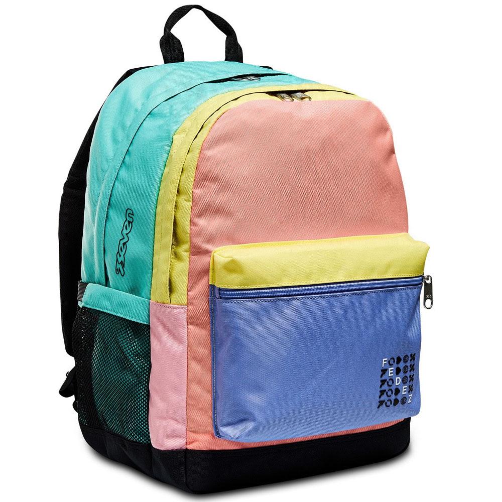 Zaino Fedez x Seven doppio scomparto multicolore 2F5002102-FAE | Lema Scuola Ufficio