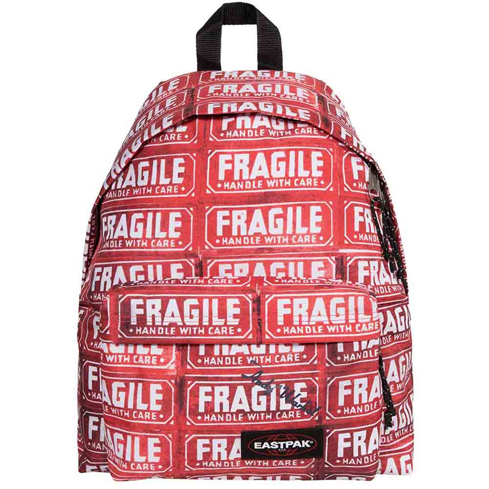 Zaino eastpak padded rosso Andy Warhol Fragile 24lt lema san miniato cartoleria online
