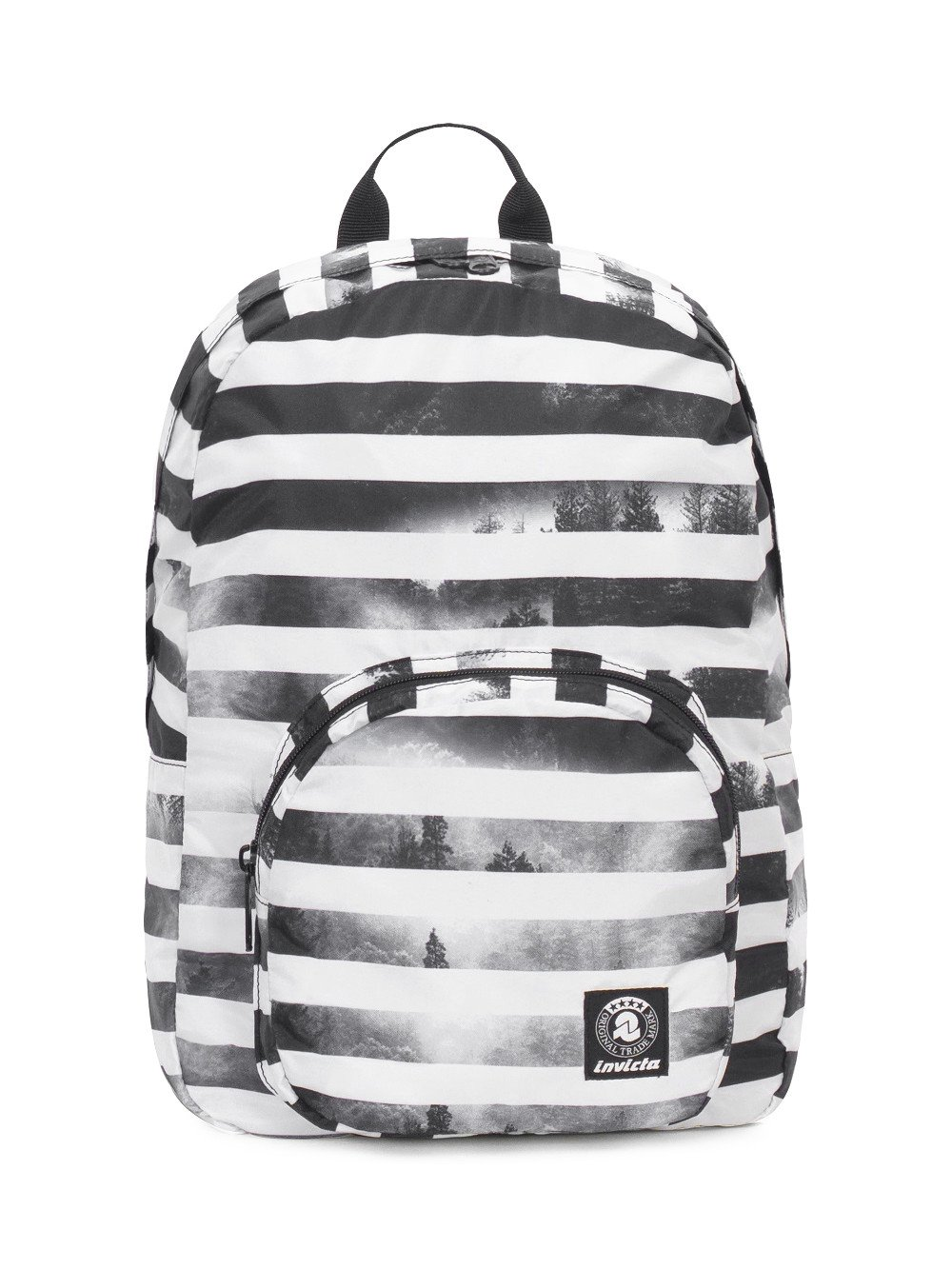 Zaino Invicta 20 litri Packable Smart 206001813-FO7 zaino viaggi tempo libero ripiegabile black striped forest lema