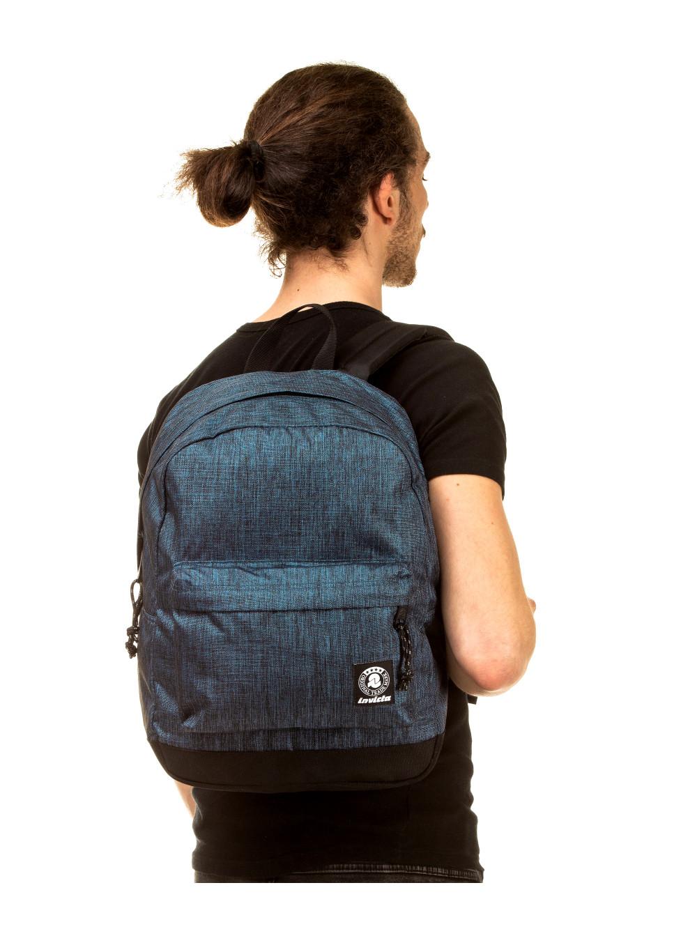 Zaino Carlson Invicta 206001917 blu melange porta computer lema cartoleria online indossato ragazzo